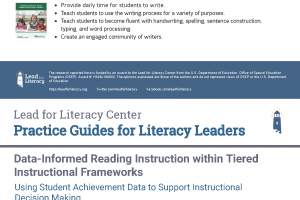 Practice Guides for Literacy Leaders