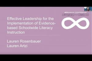 Effective Leadership for the Implementation of Evidence-based Schoolwide Literacy Instruction