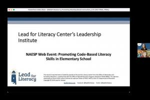 Lead for Literacy - Promoting Meaning Level Literacy Skills in Elementary Schools