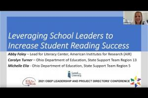 Leveraging School Leaders to Increase Student Reading Success (OSEP PD & Leadership Conference 2021)